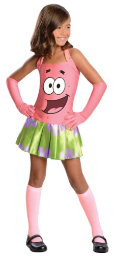 SpongeBob Squarepants Girl's Patrick Costume, Medium -