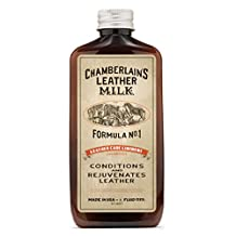 Leather Milk Leather Conditioner and Cleaner - Leather Care Liniment No. 1. All Natural, Non-Toxic Conditioner Made in the USA. 2 Sizes. Includes Premium Applicator Pad!