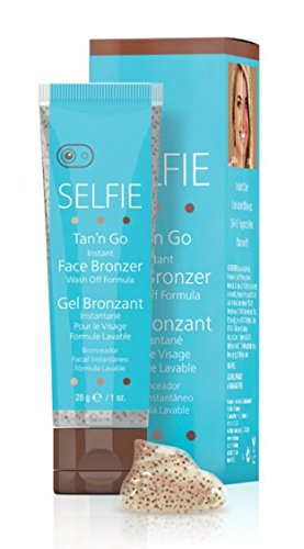 Price comparison product image Selfie, Tan'n Go, Instant Face Bronzer, Wash Off Formula, Sunless Self Tanner Cream (1 oz)