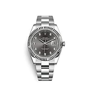 Best Epic Trends 41us1NDbQsL._SS300_ ROLEX DATEJUST 41 STEEL AND WHITE GOLD RHODIUM DIAMOND DIAL OYSTER BRACELET 41MM