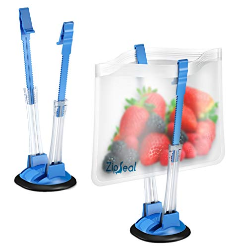 Baggy Rack Holders for Hands Free Freezer Meals Prep – Zip Lock Bag