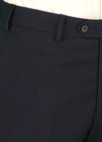 Salvatore Exte Men's Suit Modern Two Button 2 piece Striped (40 Regular, Dark Navy) by Salvatore Exte (Image #6)