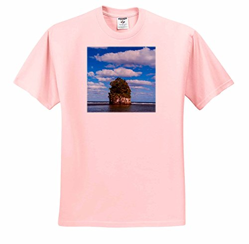 Danita Delimont - American Samoa - Single rock at Coconut Point in Tutuila Island, American Samoa. - T-Shirts - Adult Light-Pink-T-Shirt XL - Coconut At Point Shops