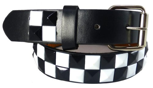 Black Checkered Belt (Nice Shades Studded Checkered Kids Belts Black/White -)