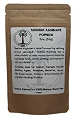 """Sodium Alginate Powder for Molecular Gastronomy / Food Grade. Used to increase viscosity & as an emulsifier. Also used in the production of gel-like foods such as bakers """"chellies"""" (alginate jam). Combine with calcium lactate to create sp..."""