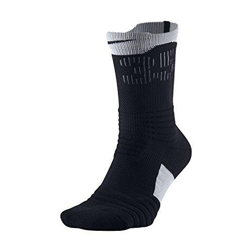 Nike Men's Elite Versatility Crew Basketball Socks (Large, KD 35/Black/White/Black)