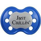 Amazon Com Mute Button Pacifier Baby Blue Cute
