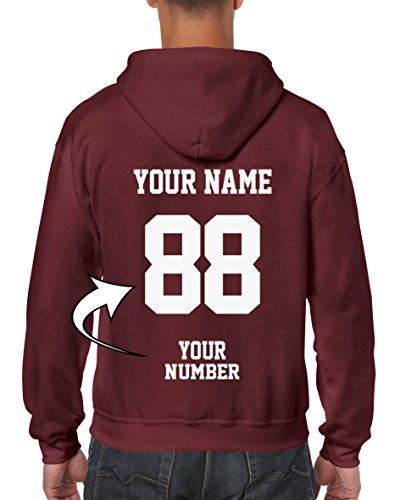 Brown Custom Hooded Sweatshirt (DESIGN YOUR OWN HOODIE - Custom Jersey Full-Zip Hoodies - Zip Up Sweatshirts)