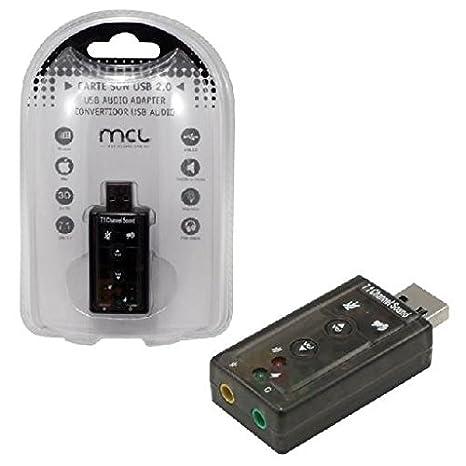 MCL USB2-257 tarjeta de audio 7.1 canales USB - Tarjeta de ...