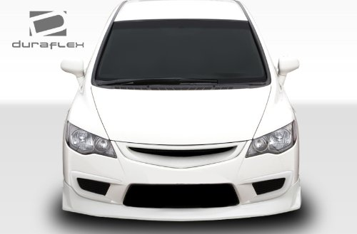 Duraflex 107742 2006-2011 Honda Civic 4Dr JDM Type Js Type R Conversion Front Lip Under Spoiler Air Dam ()