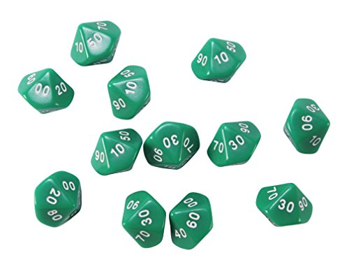 Learning Advantage CTU7303 Place Value Dice Tens44; Set of 12