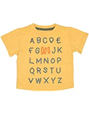 Aresway Boy's and Baby Boy's Short Sleeves Striped Printed T-Shirts Cotton Casual Tees