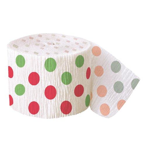 30ft Red & Green Polka Dot Christmas Crepe Paper Streamers]()