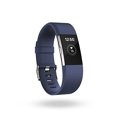 Small Heart (Fitbit Charge 2 Heart Rate + Fitness Wristband, Blue, Small )