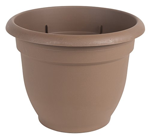Flower Chocolate Pots - Bloem Fiskars 20 Inch Ariana Planter with Self-Watering Grid, Chocolate