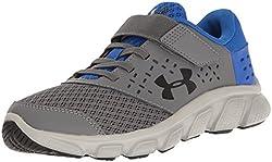 Under Armour Men's Pre School Rave Adjustable Closure Athletic Shoe, Graphite (040)ultra Blue, 13k
