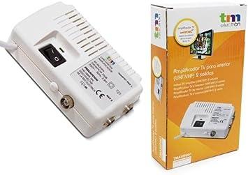profitez de la livraison gratuite plutôt cool 100% de qualité TM Electron tmamp001 – Amplificateur d'antenne TV pour intérieur UHF/VHF  avec 2 Sorties, Blanc