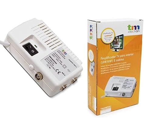 TM Electron TMAMP001 - Amplificador de Antena TV para Interior UHF ...