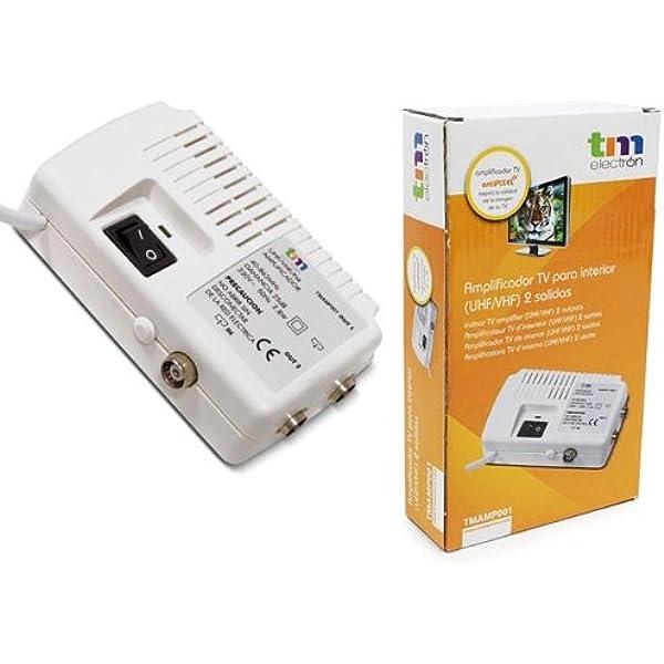 TM Electron TMAMP001 - Amplificador de Antena TV para ...