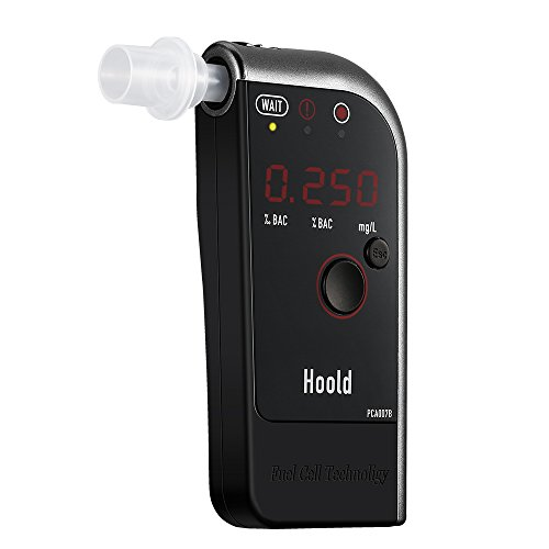 Smarzon LED Alkohol Tester, Profi-Alkoholtester mit Brennstoffzellen-Sensor und einem LCD-Display mit 4 Mundstücke , angetrieben durch 750mAh Akku, für Fahrer