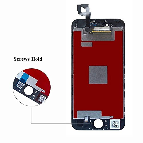 QTlier For iPhone 6S Retina LCD Touch Display Replacement Screen With Digitizer Assembly Free Tools(Black) by QTlier (Image #3)