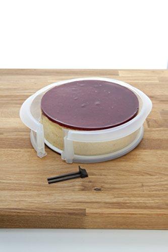 L ku duo molde desmontable 23 cm plato cer mica color transparente - Platos ceramica colores ...