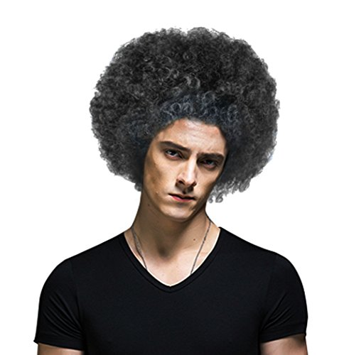 Black Disco Costumes Wig (Spooktacular Adult 70's Disco Costume Accessory Afro Wig, Black)