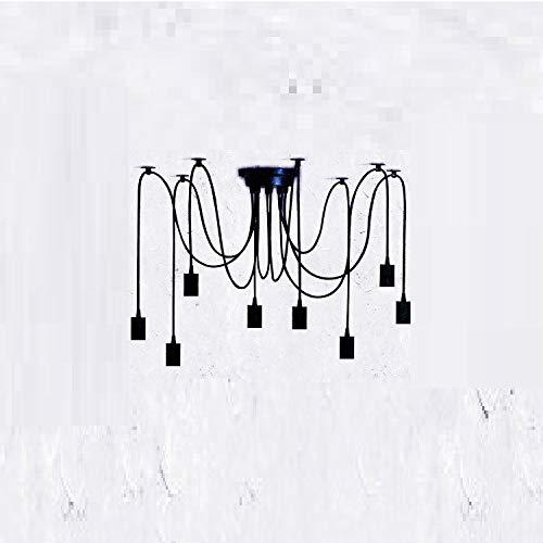 Kronleuchter Tiannian Verstreut Blaumen Kronleuchter_Diy Kreative Spinne Licht American Industrial Hotel Restaurant Tiannian Verstreut Blaume Schmiedeeisen, 8 Lampenkopf 1,8 Meter Lange Lichtlinie, Lam