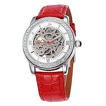Reloj moderno mujer-Cargador automático-analógico: Amazon.es ...