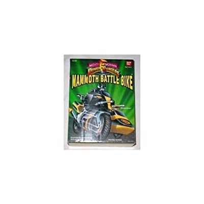 Mighty Morphin Power Rangers Mammoth Battle Bike Motorcycle with Black Ranger: Toys & Games