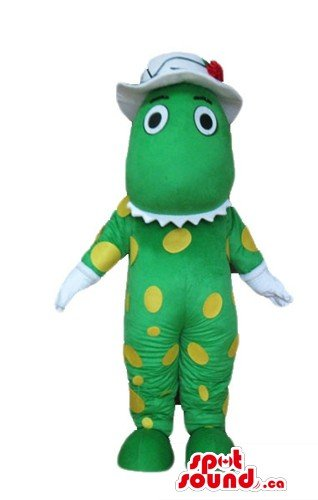 [Dorothy the Dinosaur cartoon character SpotSound Mascot US costume] (Dorothy The Dinosaur Costumes)