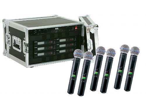 Shure SLX24/Beta58 6-Pack Wireless Handheld Microphone System
