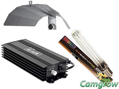 SunMaster & Lumii Black Digital Dimmable Complete 250w to 1000w Hps Light Kits (Kit SunMaster 600W + Digital dimmable…