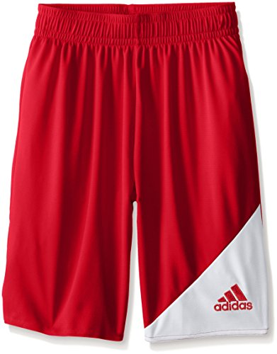 adidas Youth Striker 13 Shorts, Youth Small, Power Red/White