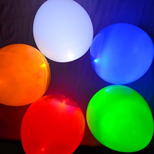 50PCS Mixed Color Party LED Light up Balloons - Buy Online in UAE
