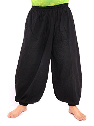 (jing shop High Cut Balloon Harem Pants One Size Cotton Unisex for Men and)