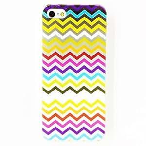 Mini - Punk Waves Stripe Pattern TPU Soft Case for iPhone 5/5S