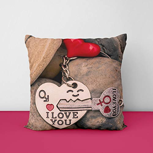 41us99m0XAL Stones I Love You Heart Keylock Square Design Printed Cushion Cover