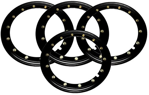 BILLET4X4 Simulated Beadlock Rings 15 inch - Black (Set of 4) by BILLET4X4