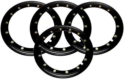 BILLET4X4 Simulated Beadlock Rings 16 inch - BLACK (Set of 4) (Rings Outer Beadlock)