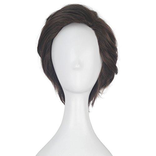 Miss U Hair Short Wavy Brown Wig Men Adult Prestyled Costume Cosplay Wig (Alicia Halloween Costume)