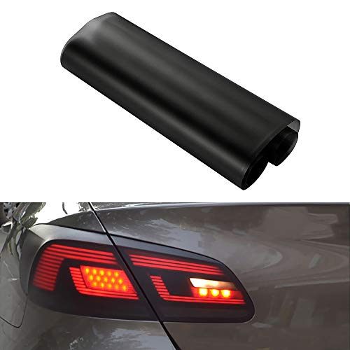 Karlor 5ft x 1ft Matt Car Taillight Tint Vinyl Film Sticker Sheet Roll Fog Light Rear Lamp Matt 50% Dark Smoke Vinyl Wrap Film 60