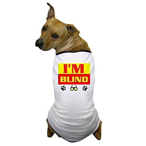 And Costumes Funny Original (CafePress - Blind Dog T-Shirt - Dog T-Shirt, Pet Clothing, Funny Dog)