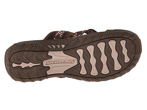 Comprar Footlocker barato Venta barata por menos de $ 60 Botín Flip-flop Chocolate / Crema De Reggae-zig Skechers Mujeres zXV6xP