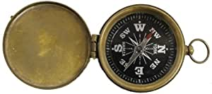 Brass Pocket Compass with Cover and Antique Finish