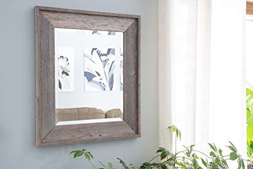 "BarnwoodUSA   Rustic Farmhouse Rectangle Floor Mirror Or Wall Mirror   100% Up-cycled Reclaimed Wood (55"" x 21"")"