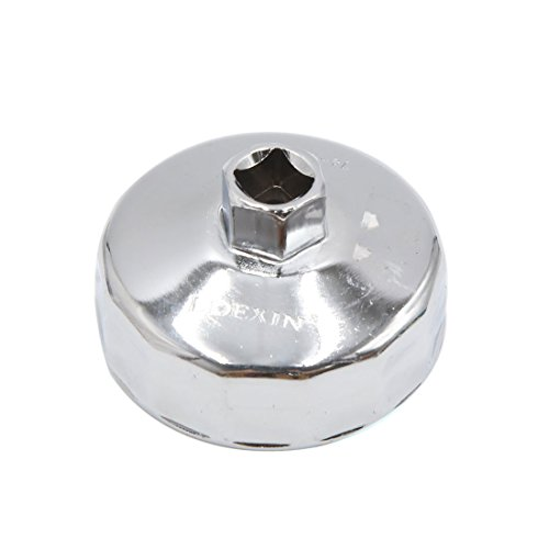 uxcell 14 Flutes 75mm Inner Dia Stainless Steel Car Oil Filter Wrench Cap Tool Remover by uxcell (Image #2)'