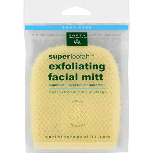 Earth Therapeutics Loofah, Super, Exfoliating, Facial Mitt