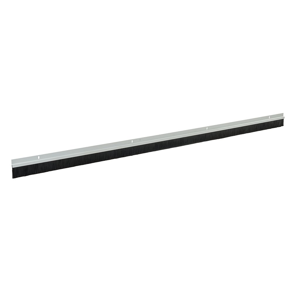 Fixman 456532 White Garage Door Strip Draught Excluder Brush 1067mm Length 25mm Bristles - Pack of 2 (2134mm) Silverline Ltd