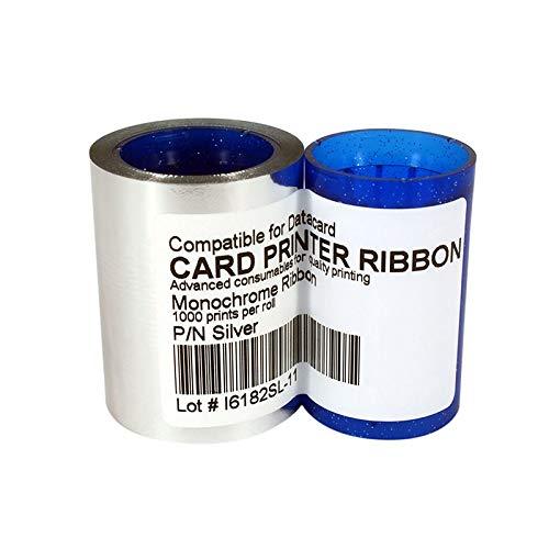 (Printer Parts Sliver Ribbon 1000prints for DC285SL,Datacard SP25 SP30 SP35 SP55 SP75 CP40 CP60 CP80 Card Printer - (Color: Other))